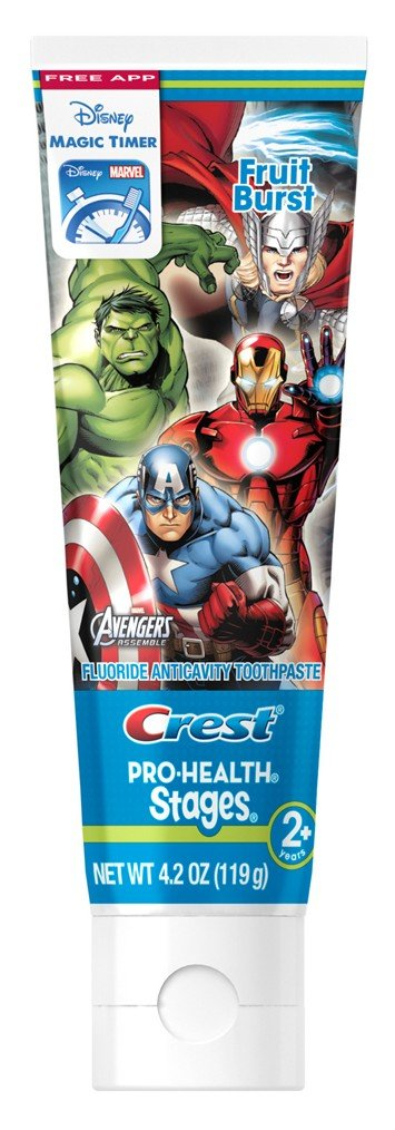 Crest Pro Health Stages Kids Toothpaste, Avengers, 4.2 Ounce, (Pack of 2)