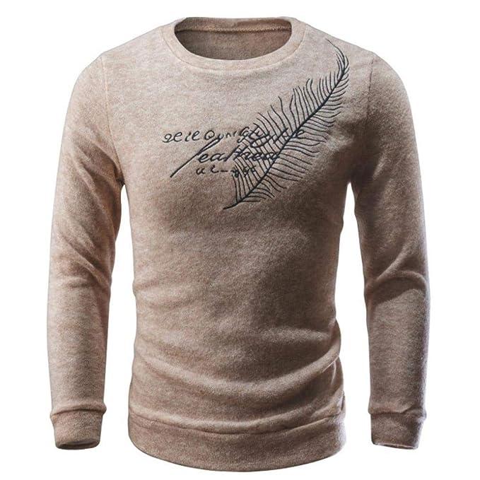 Resplend Hombres otoño Invierno Casual Letras suéter Tejer suéter ...