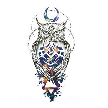 Just Fox - Tatuaje temporal, diseño de búho, multicolor: Amazon.es ...