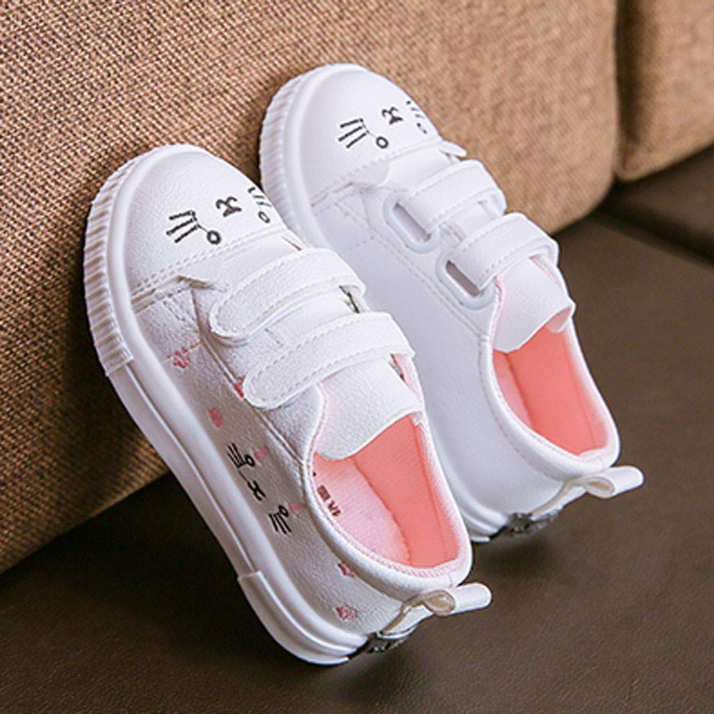 Kasien Baby Shoes, Kids Boys Girls Cat Sneakers Sports Running Shoes Baby Infant Casual Shoes (White, 6-12 Months) by Kasien (Image #4)