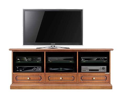 Arteferretto Mueble de tv en madera maciza y mdf, mueble 3 ...