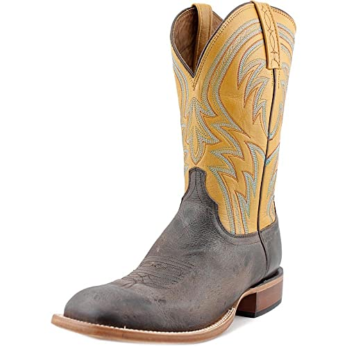 54f41534703 Lucchese Men's 1883 Alan Smooth Cowboy Boot Square Toe - M2662