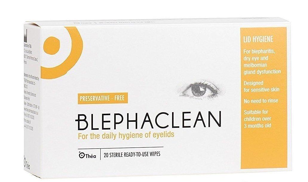 20 BLEPHACLEAN Sterile Eyelid Wipes For BLEPHARITIS Thea