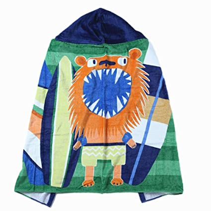 Super Soft And Bathing & Grooming Inshere 100% Cotton Beach Hooded Towel For Toddlers Under Age 6