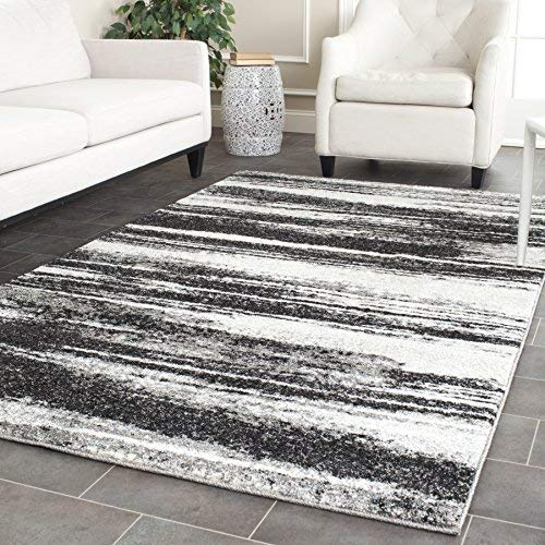Safavieh Retro Collection RET2693-8479 Modern Abstract Dark Grey and Light Grey Area Rug (3' x 5')