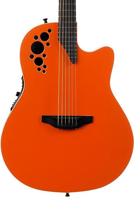 Ovation S de guitarra acústica Elite T Super Shallow Gloss Naranja 1868tx de Go