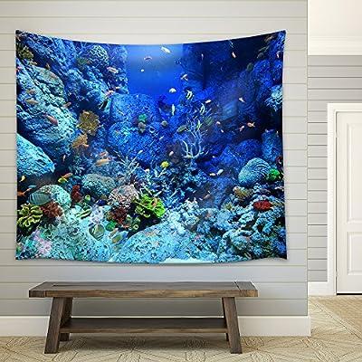 Astonishing Portrait, Premium Creation, Underwater World Fabric Wall