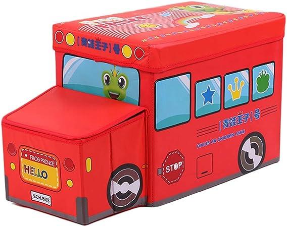 Caja de almacenamiento multiusos para coches y colegios de policía, para guardar juguetes, taburete para niños 1#: Amazon.es: Hogar