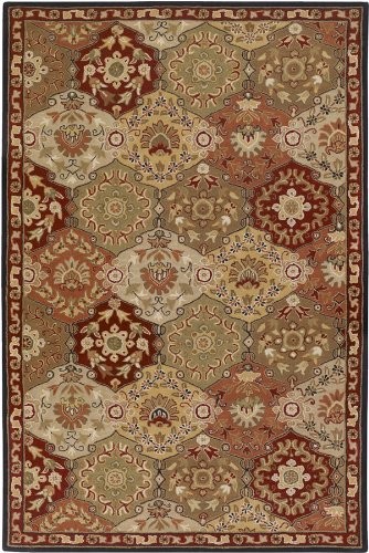 picture of Surya Caesar CAE-1034 Classic Hand Tufted 100% Wool Cinnamon Spice 8' Square Traditional Area Rug