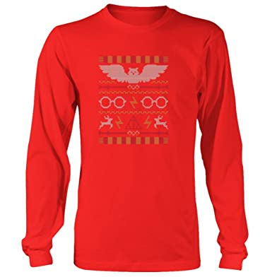 harry potter christmas knit mens womens long shirt long sleeve shirt