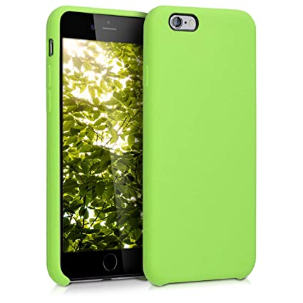 kwmobile Funda compatible con Apple iPhone 6 / 6S - Carcasa de TPU para móvil - Cover trasero en verde