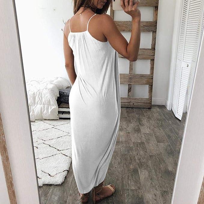 POLP Mujer Vestido ◉ω◉ Color sólido Vestidos Mujer Verano 2018 Irregular Vestido Dividido, Fiesta Falda Un Hombro, Honda Vestidos, Sexy Vestido de ...