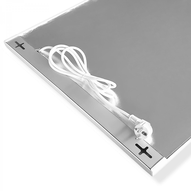 Viesta H400 Infrarotheizung Carbon Crystal neueste Technologie Heizpaneel Heizk/örper Heizung Heating Panel ultraflache Wandheizung Wei/ß 400 Watt TH12 Thermostat