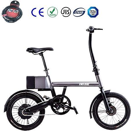 Zhixing Plegable Bicicleta Eléctrica City Montaña Unisex Adulto 16 ...