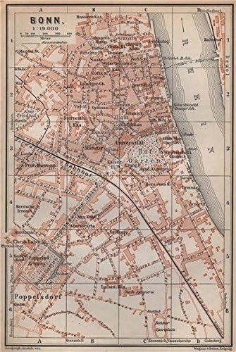 Amazon Com Bonn Antique Town City Stadtplan Northrhine Westfalia