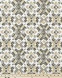 Fabric Shower Curtain - CREATION CAMEL- 72'' Width x (72'', 74'', 78'', 84'', 90'', 96'') Length