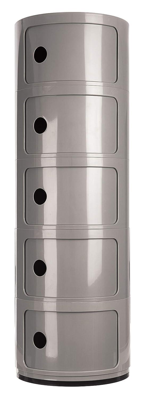 Sala de Estar Estanter/ía de pl/ástico ABS con 5 estantes para ba/ño HKT Costello/® para Cocina Multiusos 100 x 32 x 32 cm