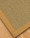 NaturalAreaRugs Crossroads Sisal Area Rug, Handmade in USA, 100% Sisal, Non-Slip Latex Backing, Durable, Stain Resistant, Eco/Environment-Friendly, (6'x9' ) Sage/Khaki Border