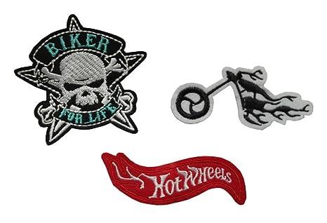 LONDON Juego de 3 parches bordados para planchar o coser en motocicleta, bicicleta