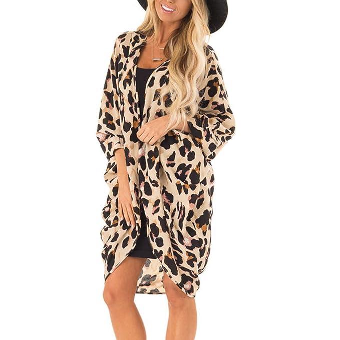 AMhomely Traje de baño para Mujer con Estampado de Leopardo ...