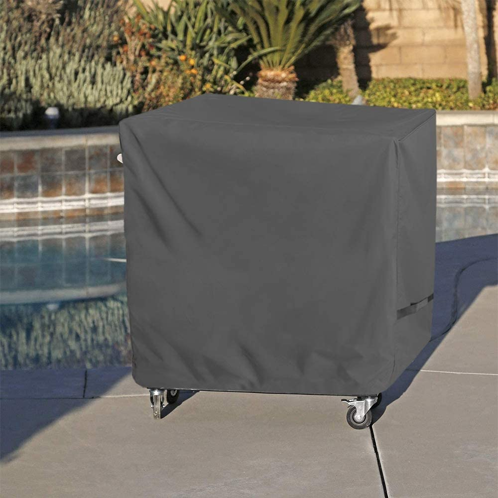 Waterproof UV Proof Rolling Cooler Cover OVCRNIBI Cooler Cart Cover Universal Fit for 80 Quart Rolling Ice Chest 34W 19D 31H Grey