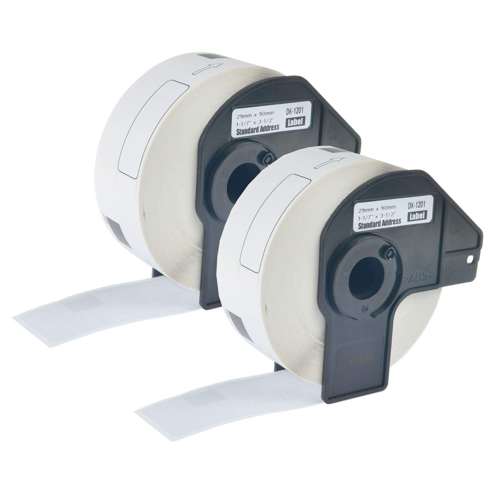 KCYMTONER 2 Rolls of Compatible Brother DK-1201 White Continuous Length Paper Tape Labels 29mm x 90mm (1-1/7'' 3-1/2'') for QL-500 QL-570VM QL-580N QL-1050 QL-1060N Series with Cartridge