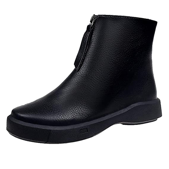 Calzado de Mujer Botines de Ante Estilo Vaquero para Mujer Botines para Mujer Mujer Botas de Ante Sintético Zapatos con Cremallera - Botines de Cuero Mujer ...