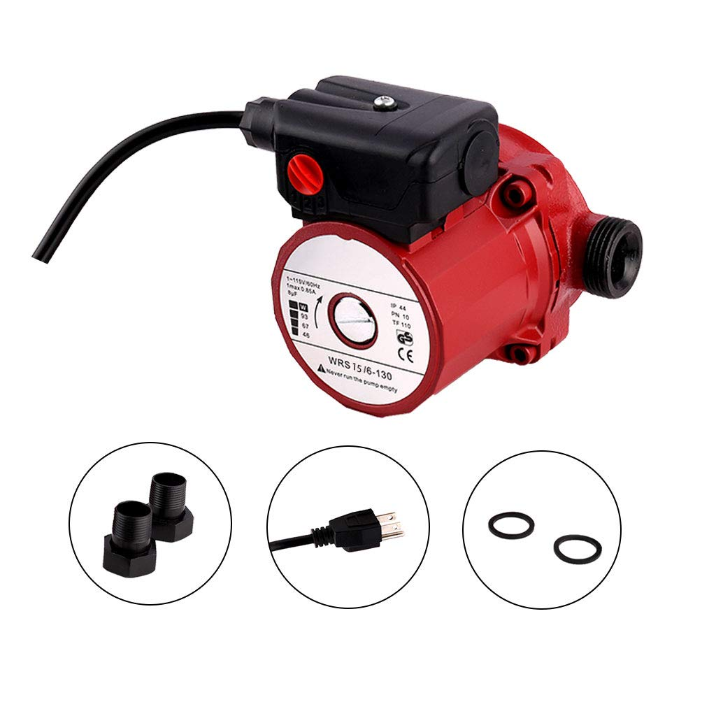 SHYLIYU Pressure Booster Pumps 115V 3-Speed Cast Iron Booster Pump 3/4 inch Outlet 46/67/93W Circulator Pump for Home