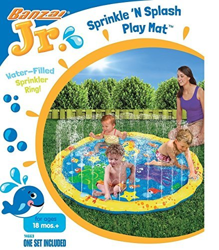 Banzai 54in Diameter ytJQsS Sprinkle and Splash Play Mat, 3 Units