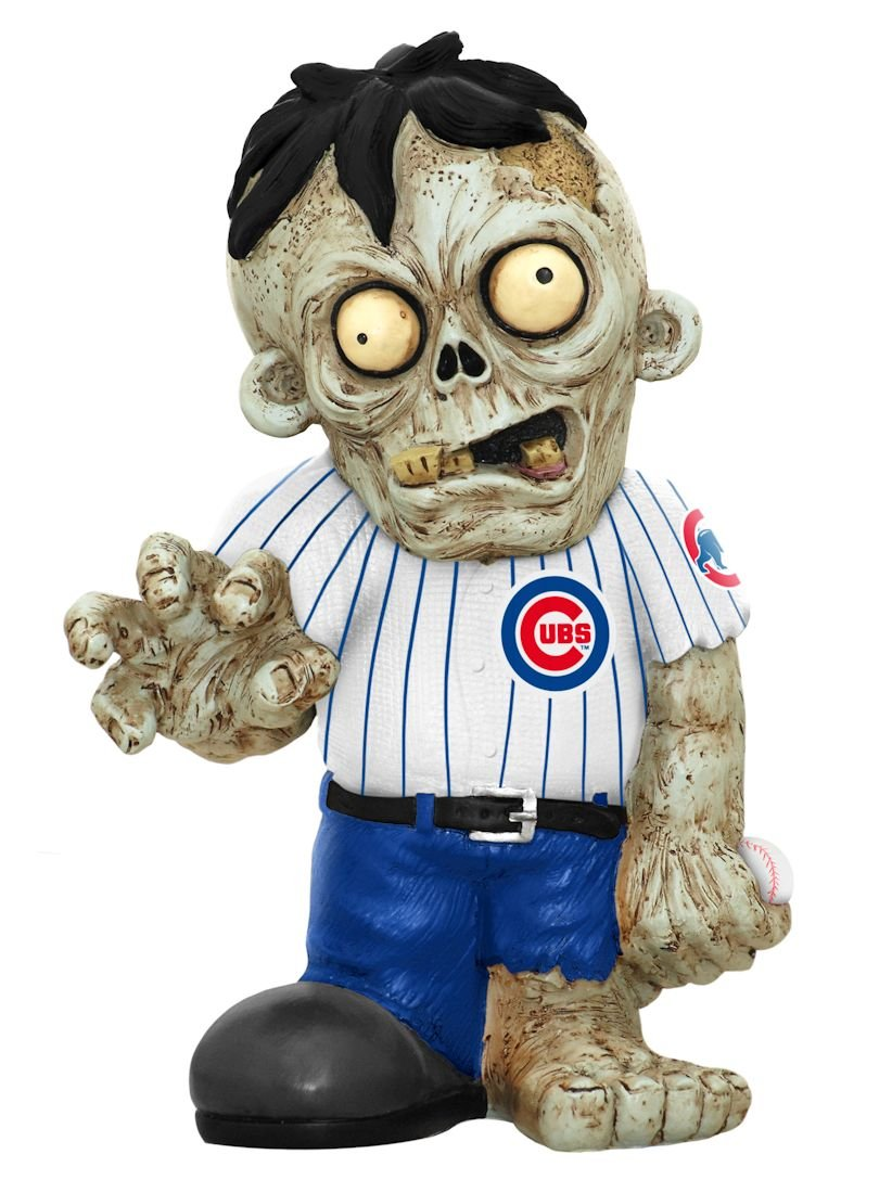 FOCO Chicago Cubs Resin Zombie Figurine