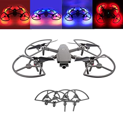Tineer Mavic 2 LED Propeller Guards Integrated with Landing Gears Stabilizers Protection Cover with Colorful Lighting Mode for DJI Mavic 2 Pro/Zoom Drone Accessory: Sports & Outdoors