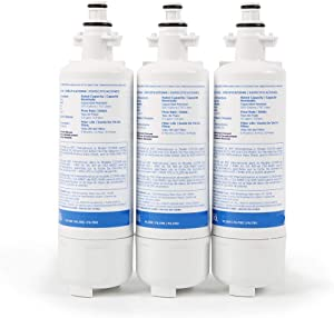 Refrigerator Replacement Water Filter for Sears/Kenmore, LG and Beko and Models, 3 Pack, NSF Certified against Standard 42, 53, 401, 372