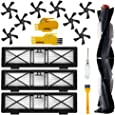 Accessory Kit for Neato Botvac D Series D3 D5 D75 D80 D85 75e 75 80 85 Robot Vacuum Cleaner Replacement Parts Pack of Hepa Filter,Side Brush,Cleaning Tool 1+3+3+2+2(Black)