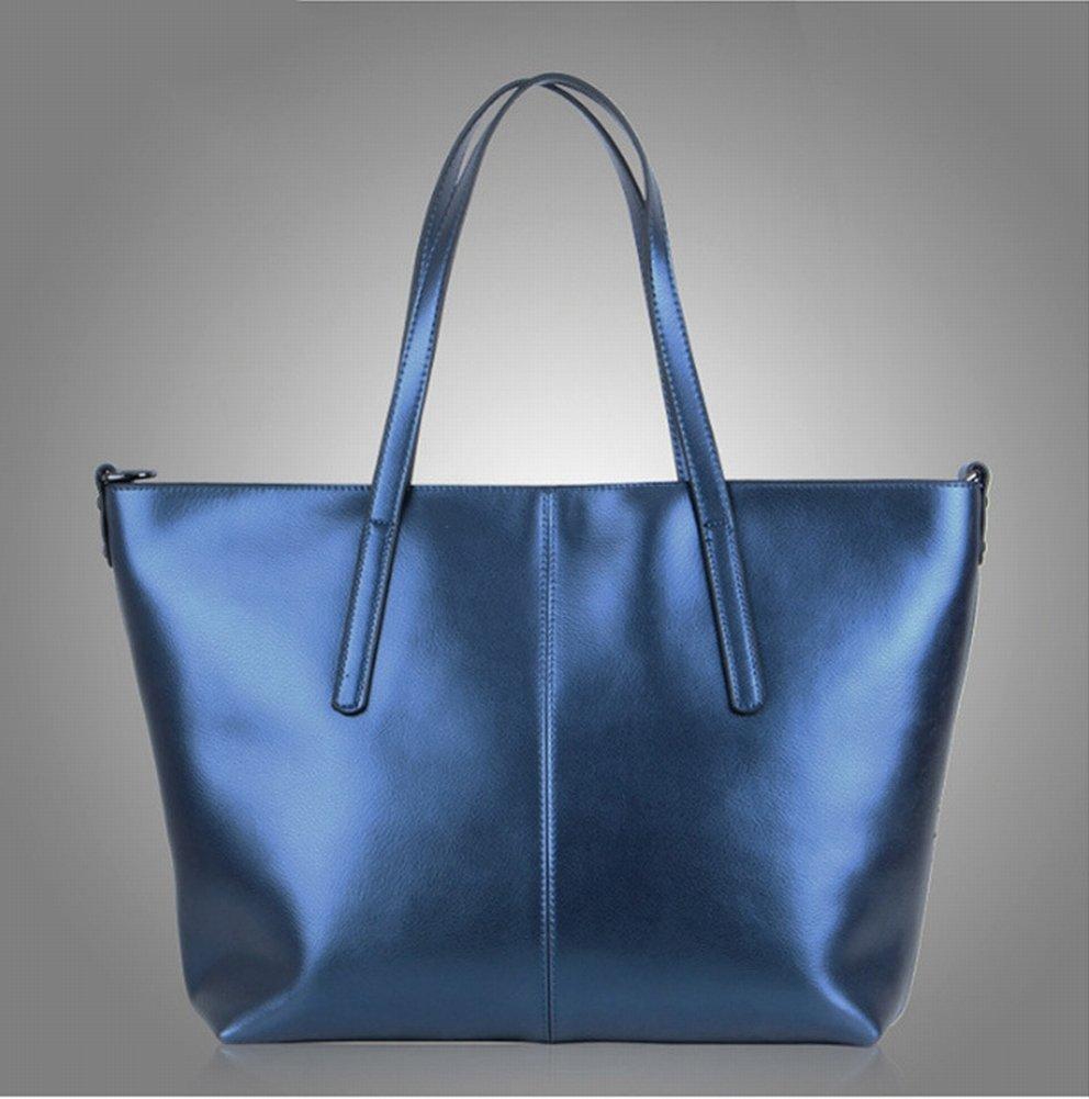 Wasser Weiches Leder Schulterdiagonale Handtasche , Blauer Korb