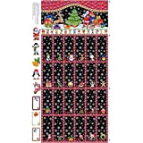 Christmas Advent Calendar 100% Cotton Quilting Panel Fabric Nutex 89280 101 by Nutex