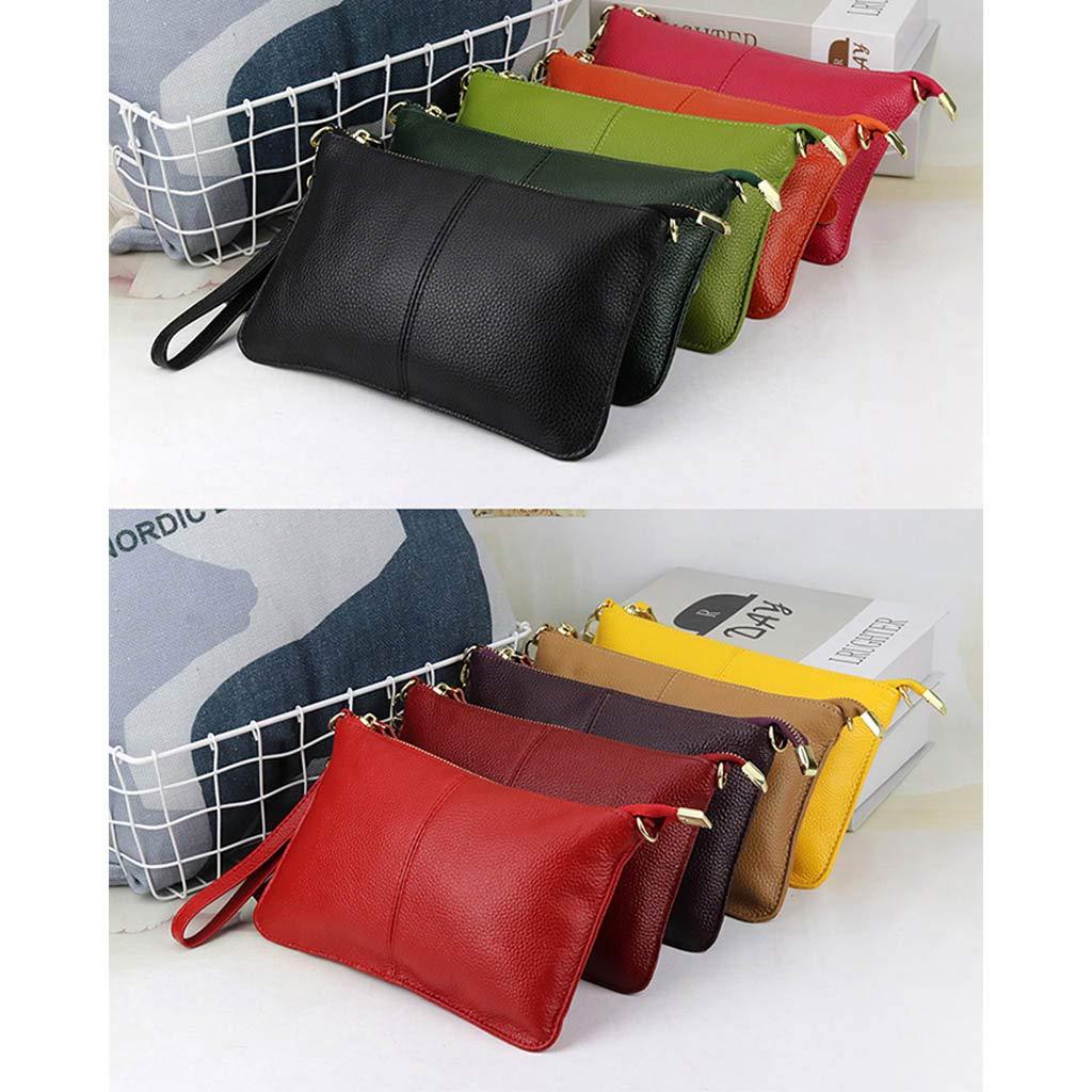 auen PU-handväska-axel-väska crossbody tote dam clutch skolväska med bygel apelsin