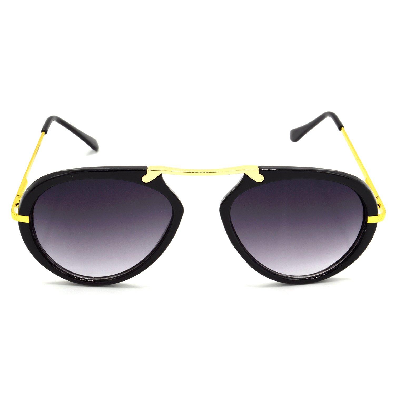 HRINKAR Grey Wrap Around Sunglasses HRS427-BK-GRY