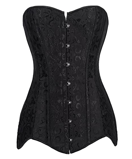 346b6314a1 Image Unavailable. Image not available for. Color  FLORATA Women s  Hourglass Longline Overbust Corset ...