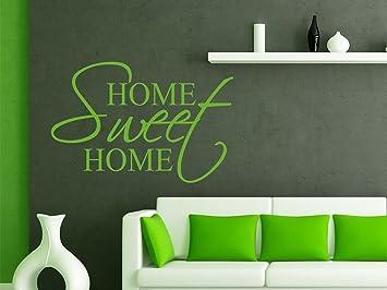 Gut Wandtattoo Spruch Home Sweet Home Für Wohnzimmer Wand Aufkleber Deko Ideen,  Grün, 60 X