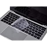 "Premium Ultra Thin Keyboard Cover Skin for MacBook Pro with Touch Bar 13"" and 15"" (Apple Model Number A2159 A1706 A1707 A1989 A1990, 2019 2018 2017 2016 Release), US Keyboard Layout"