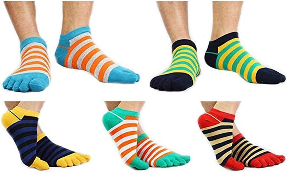 wyhweilong Zehensocken Damen Herren 5-6 Paar Sport laufende Zehen Socken Sportsocken 100/% Baumwolle