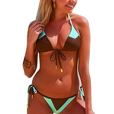 7af44cf806e90 2018 Women String Thong Bikini Set Sexy Brazilian Swimwear Sling Top Mesh Style  Bikini Bathing Suit