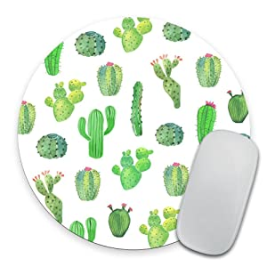Cactus Mouse Pad Gift Desk Decor Dorm Decor Office Decor Round Mousepad Office Supplies Green Cubicle Decor Cute Office Desk Accessories