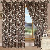 RT Designers Collection Vista Grommet Window Curtain Panel, 55 x 90, Chocolate
