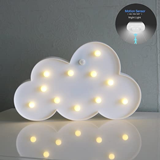 Amazon.com: longmon Cloud luces LED luz de noche Marquee ...