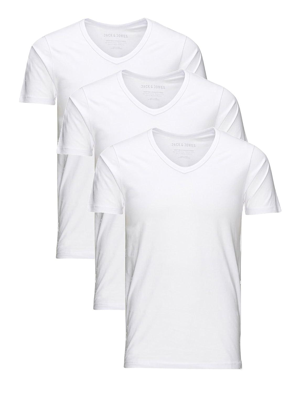 d6be262d062e0b Herren Jack Jones 3er Pack Set T-Shirt Herren Slim Fit Körperbetonend   Amazon.de  Bekleidung