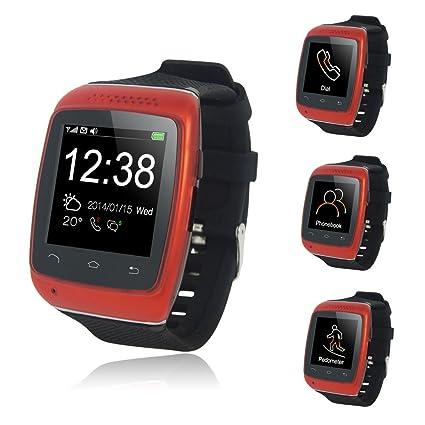 Asiright S12 - Reloj de pulsera inteligente con Bluetooth para iOS, Android, Samsung,