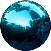 Trademark Innovations Stainless Steel Blue Gazing Mirror Ball, 10