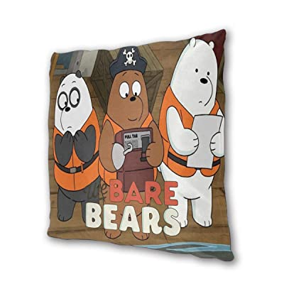 "We Bare Bears Outdoor/Indoor Cushions 18.5""x 18.5"", 2 Pieces: Kitchen & Dining"