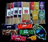 Relaxation with aroma, Thai tradition temple incense 20, 40 smokeless fragrance incense tube, 40 mini sizes incense tube, 50 aroma fragrance Incense cones & handmade ceramic Incense burner (P18)